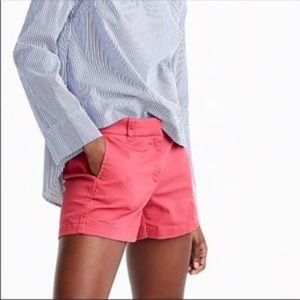 J Crew Pink Chino City Fit Shorts Size 6